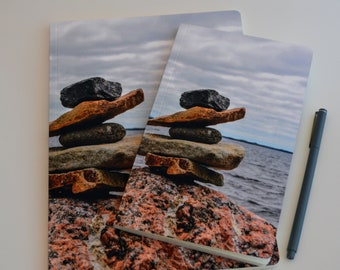 Notebook - Dot Grid Journal - Bullet Journal - Grid Line Paper - Gratitude Journal - Lined Journal - Sketchbook - by KarenMakes