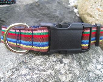 Preppy dog collar, dog collars for boys, dog collars for girls, striped dog collar, Large Dog Collar, female dog collar, male collar