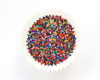 Rainbow Nonpareil Sprinkles, Rainbow Cupcake Sprinkles, Rainbow Cake Pop Sprinkles, Rainbow Non Pareils (2 ounces)