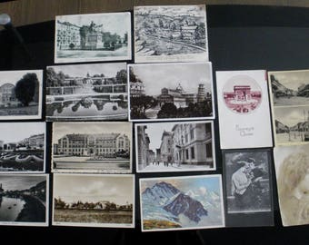 LOT 15 antique postcards