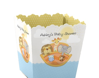 Noah's Ark - Party Mini Favor Boxes - Custom Small Candy Boxes - Personalized Baby Shower Party Favor Boxes - Set of 12