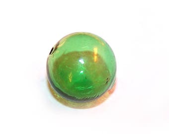 A bead ball 18 mm green glass
