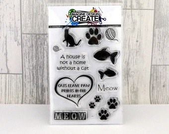Cat Paw Prints A6 clear photopolymer stamps