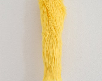 Faux Fur Fox Tail - Yellow - Cosplay / Furry / Costume