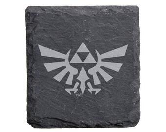 Legend of Zelda Triforce Slate Coaster Set