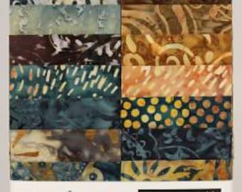 Stonewash 10 Inch Squares Layer Cake, 20 Pieces, Tonga Treats, Timeless Treasures, Precut Fabric, Quilt Fabric, Cotton Fabric, Indonesian