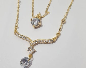 Gold plated beautiful double layer chain