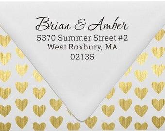 Return Address Stamp, Custom Return Address Stamp, For Return Address Labels, Housewarming Gift, Wedding Gift, E27