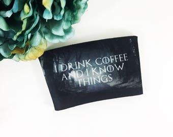 Coffee Sleeve Holder - Coffee Sleeve Personalized - Coffee Sleeve - Coffee Sleeve Wedding - Custom Coffee Sleeves - Personalized Coffee