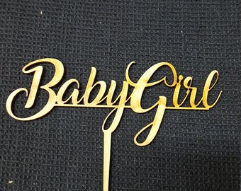 MDF Laser Cut Cake Topper  - Baby Girl
