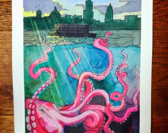 Limited Edition Print 1/50 (A4) - Octopus