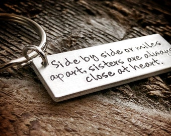 Sisters Gift Sister Gift Soul Sisters Gift Sister Keychain Long distance Sister Gift from sister Customized sister gift personalized sister