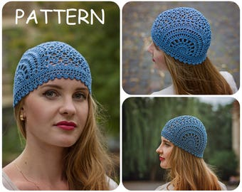 Crochet Summer Hat Pattern PDF - Unique Handmade Scheme For Lace Crochet Hat - Chemo Hat Graph Pattern - DIY Womens Hat Pattern ItWasYarn