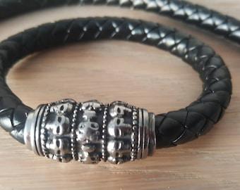 "men's ""death's head"" bracelet biker"