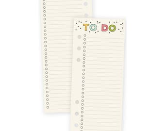 Carpe Diem Planner TO DO Checklist A5 Bookmark Tablet, 24 sheets, planner accessories, to do lists, checklist tablet, punched tablet (8918)