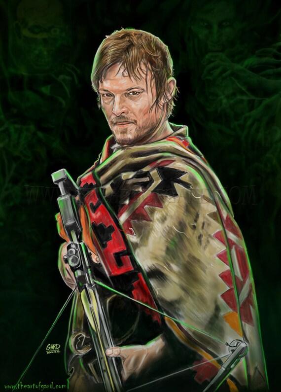 Daryl Dixon Digital Print - The Walking Dead