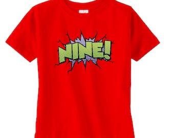 Boys Superhero Birthday Shirt - Boys Birthday Gift - Boys 9th Birthday - Comic Book Theme Party - Birthday Party Tshirt - Superhero Shirt