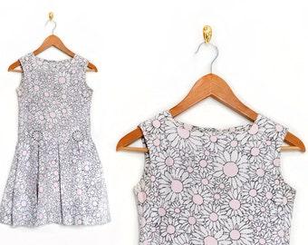 Kids Clothing / Floral Dress / 1960s Dress Girls Dresses /  White Dress / Easter Girls Clothing Dresses Day / Vintage Clothing