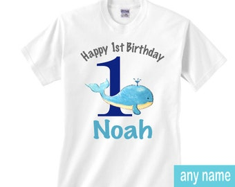 1st birthday whale shirt