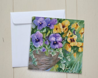 Floral Collection - #F05 - Joy's Pansies