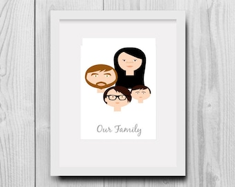 Custom Family Tree, Custom Portrait, Family Tree Illustration, Family Tree Alternative, Custom Illustration, Mothers Day