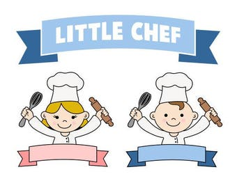 Little Jr. Chef Cooking Cuttable Design SVG PNG DXF & eps Designs Cameo File Silhouette