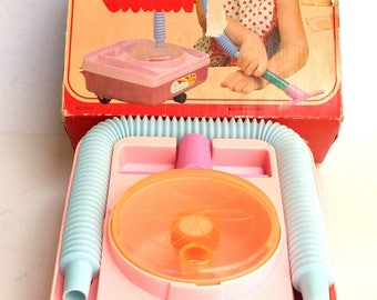 Vintage Toy Vacuum Cleaner Battery Operated Boxed Bright Star Hong Hong Works Collectible Toys