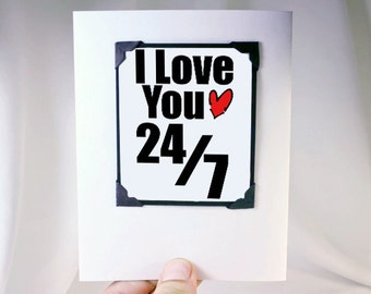 Anniversary Card. I Love You Card . Valentines Card - Greeting Card and Magnet. MT042
