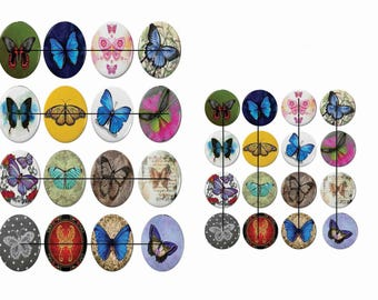 Digital images for cabochon or ti36 butterfly image transfer