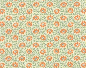 Somerset - Creme Persimmon Florals Fig Tree Quilts from Moda