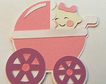 Baby Girl Stroller Die Cut