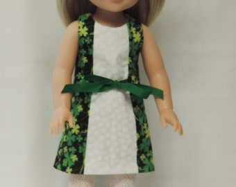 14.5 inch St. Patrick's Day dress, hair clip