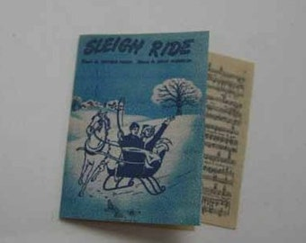 Sheet Music Sleigh Ride - dollhouse miniature 1:12 scale