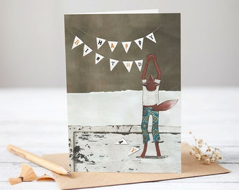 Birthday Bunting [Greetings Card]