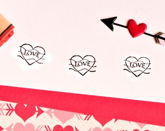 Love Postmark Rubber Stamp