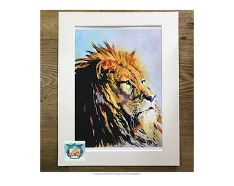 Watercolour Lion, Watercolor Lion, Lion Art Print, Lion Illustration, Lion Decor, Animal Prints, Animal Art Print, Lion Art, wild Animal Art