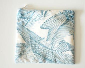 Graphic square pouch / makeup bag