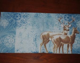 "paper towel ""deer and deer"" woodland animals theme"