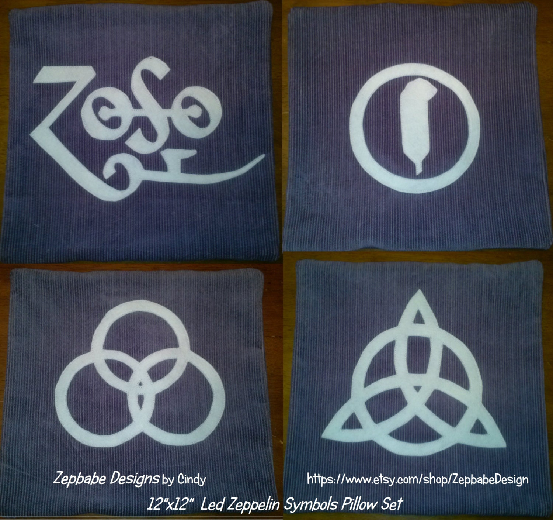 Sale led zeppelin four symbols purple pillow set cheap description led zeppelin four symbols biocorpaavc Gallery