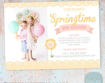 Spring Mini Session Marketing Board - Photoshop template - IE011 - INSTANT DOWNLOAD