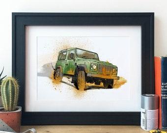 Land Rover Vehicle Illustration