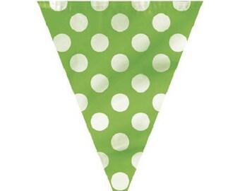 Garland banner flags pattern dot 3.65 m