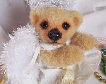 Snezhana - Christmas angel. Teddy bear. OOAK.