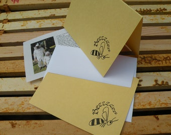 Bzzzzz Note Cards-Fold over