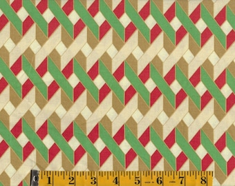 Christmas Twinkle Bright Ribbon Grid by Anna Griffin BTY #840