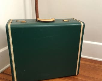 Shabby Chic Luggage, Suitcase, Green Case
