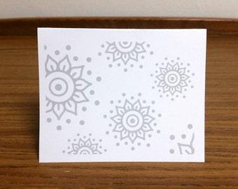 Faded Blank Henna Card