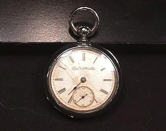 Antique Elgin National Watch Co. Key Wind 18 Size 7 Jewels Pocket Watch as-is  # 60