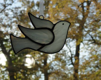 Stained Glass Dove Suncatcher