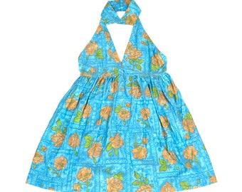 Seabreeze Blue Backless summer Dress
